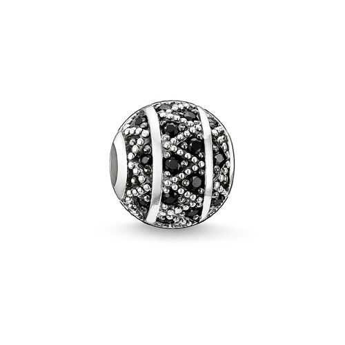 """Bead """"black zig zag"""" from the Karma Beads collection in the THOMAS SABO online store"""