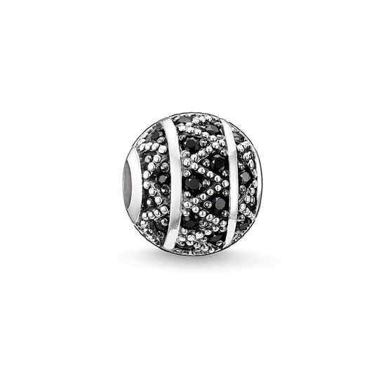 "Bead ""black zig zag"" from the Karma Beads collection in the THOMAS SABO online store"