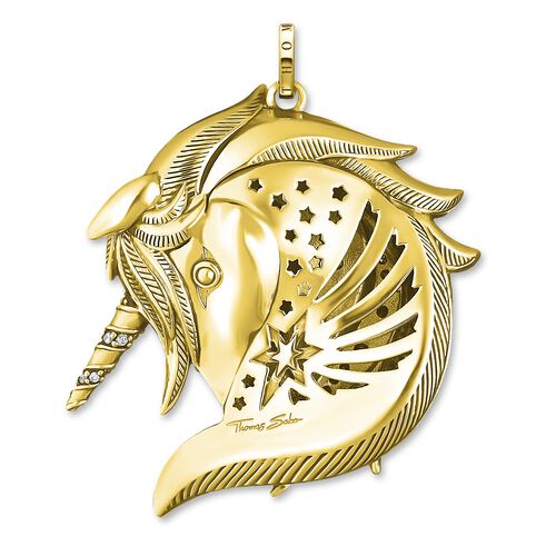 """pendant """"Royalty unicorn gold"""" from the Glam & Soul collection in the THOMAS SABO online store"""