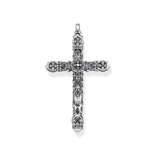 Pendentif croix pierres noires argent de la collection  dans la boutique en ligne de THOMAS SABO