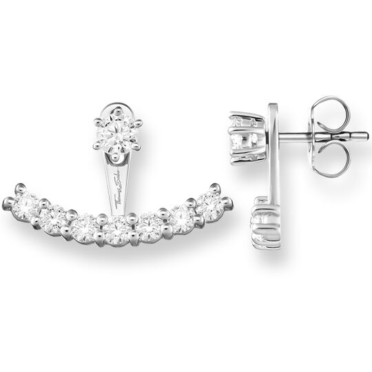 ear studs white Ear Jackets from the Glam & Soul collection in the THOMAS SABO online store