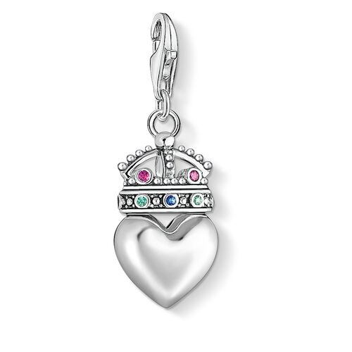 """Charm pendant """"Heart with crown"""" from the  collection in the THOMAS SABO online store"""