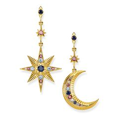 "earrings ""Royalty Star & Moon"" from the Glam & Soul collection in the THOMAS SABO online store"
