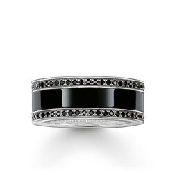 """band ring """"black ceramic pavé"""" from the Glam & Soul collection in the THOMAS SABO online store"""
