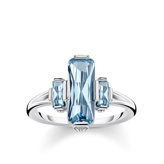 ring large blue stones from the Glam & Soul collection in the THOMAS SABO online store