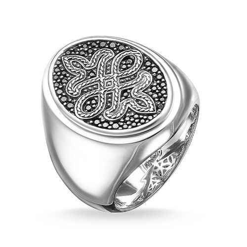 """signet ring """"Love Knot"""" from the Rebel at heart collection in the THOMAS SABO online store"""