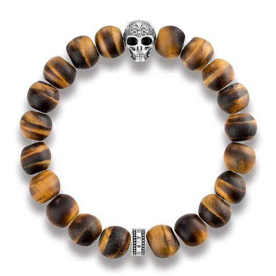 """Armband """"Power Bracelet Totenkopf mit Lilie"""" aus der Rebel at heart Kollektion im Online Shop von THOMAS SABO"""