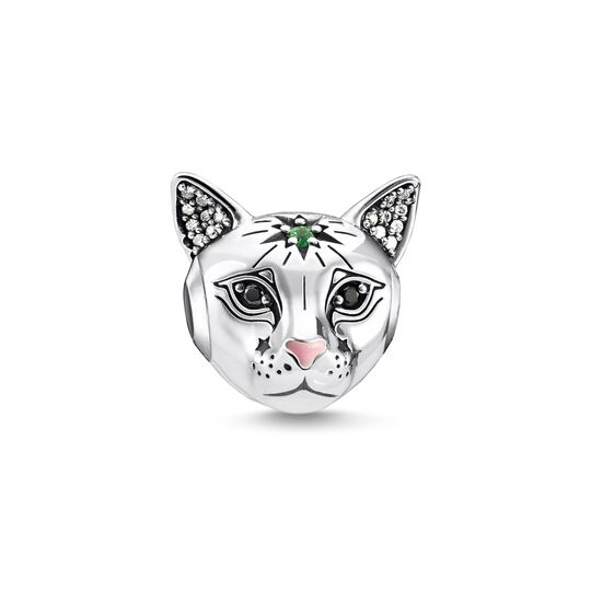 Bead chat argent de la collection Karma Beads dans la boutique en ligne de THOMAS SABO