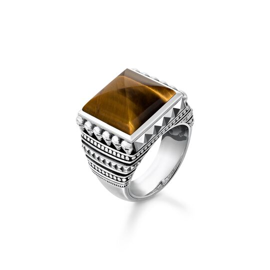 ring ethno skulls brown from the  collection in the THOMAS SABO online store