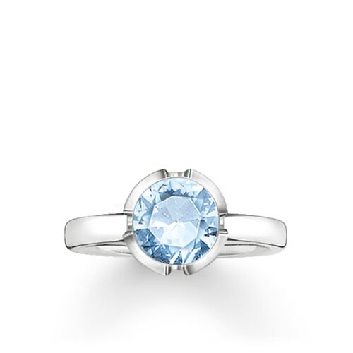 """solitaire ring """"Signature Line light blue small"""" from the Glam & Soul collection in the THOMAS SABO online store"""