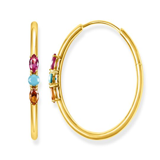 hoop earrings royalty colourful stones from the Glam & Soul collection in the THOMAS SABO online store