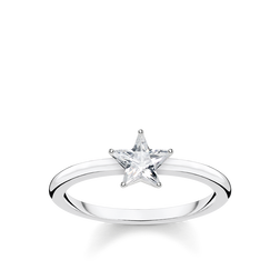 ring Sparkling star, silver from the Glam & Soul collection in the THOMAS SABO online store