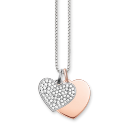 "necklace ""hearts"" from the Love Bridge collection in the THOMAS SABO online store"