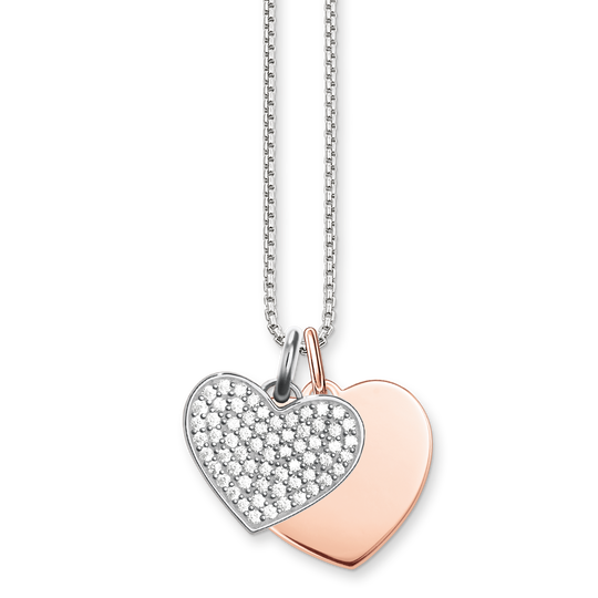 necklace hearts from the Love Bridge collection in the THOMAS SABO online store