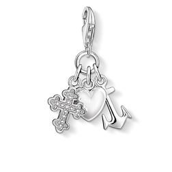 Charm pendant cross, heart, anchor from the Charm Club Collection collection in the THOMAS SABO online store