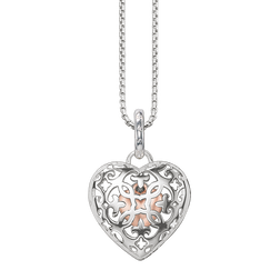 "necklace ""heart medallion"" from the Glam & Soul collection in the THOMAS SABO online store"