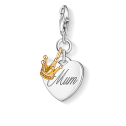 Charm pendant MUM heart with crown from the  collection in the THOMAS SABO online store