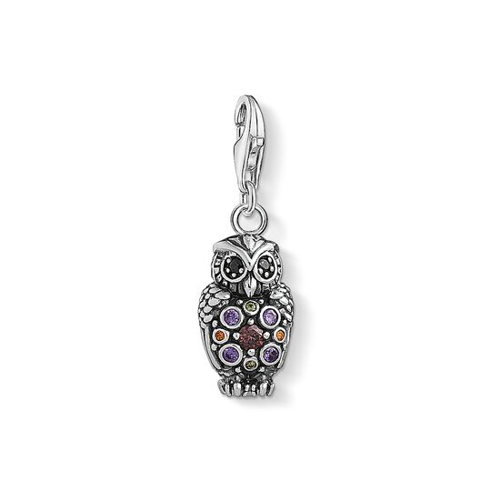 Charm pendant Sparkling owl from the Charm Club collection in the THOMAS SABO online store