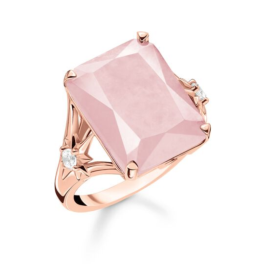 ring large pink stone with star from the Glam & Soul collection in the THOMAS SABO online store