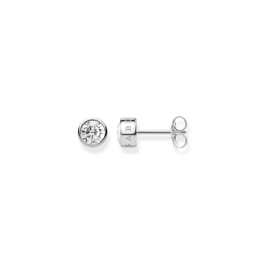 ear studs white stone from the  collection in the THOMAS SABO online store