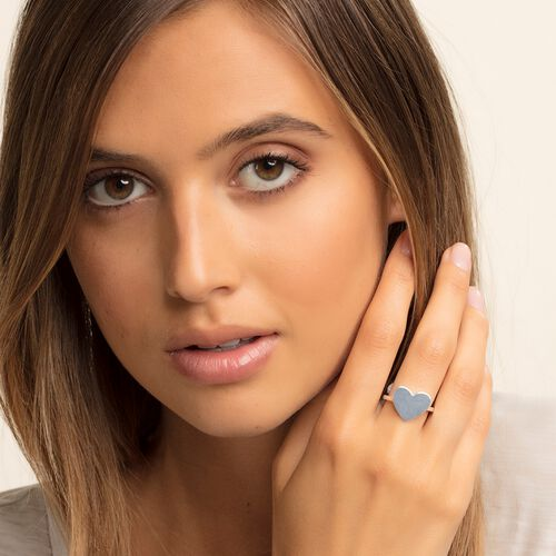 "ring ""heart"" from the Love Bridge collection in the THOMAS SABO online store"