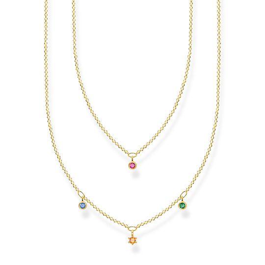 Cadena doble dorado con piedras de colores de la colección Charming Collection en la tienda online de THOMAS SABO