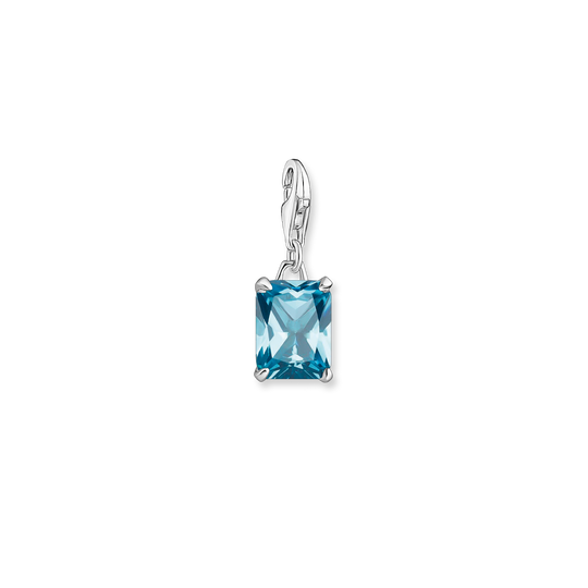 Charm pendant large blue stone from the Glam & Soul collection in the THOMAS SABO online store
