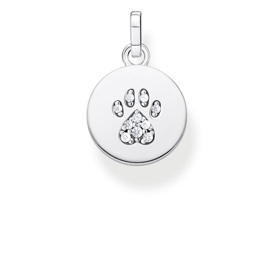 pendant disc paw cat silver from the Glam & Soul collection in the THOMAS SABO online store