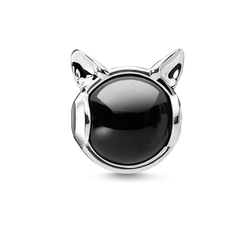 Bead Orecchie di gatto argento from the Karma Beads collection in the THOMAS SABO online store