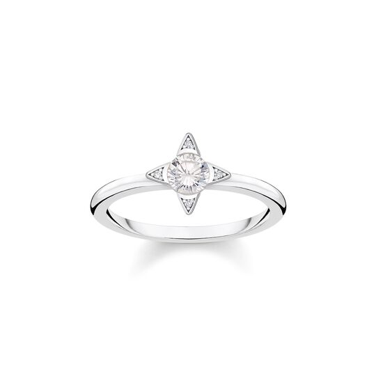 ring White stones, silver from the  collection in the THOMAS SABO online store