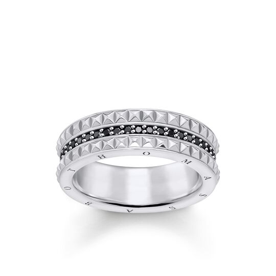 """ring """"black Studs"""" from the Glam & Soul collection in the THOMAS SABO online store"""