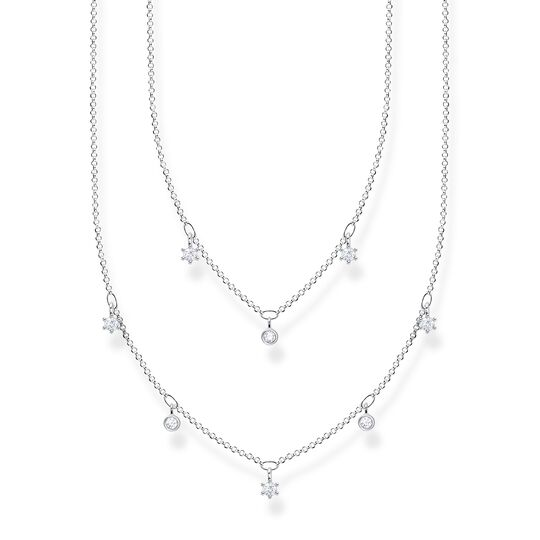 Necklace double white stones silver from the Charming Collection collection in the THOMAS SABO online store