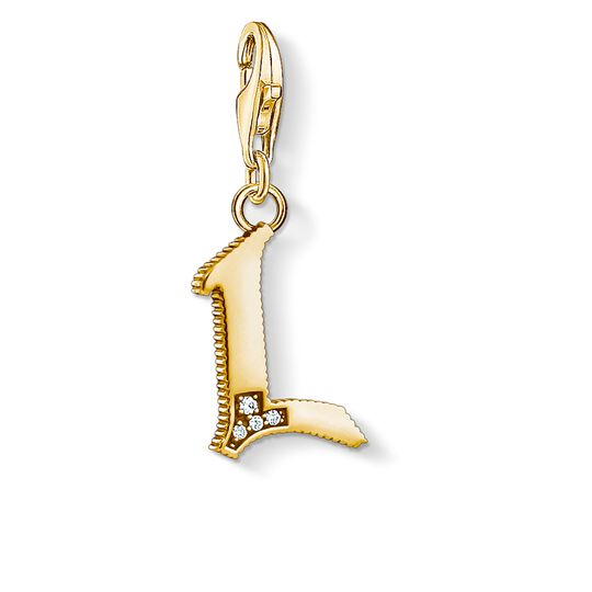 Charm pendant letter L gold from the Charm Club collection in the THOMAS SABO online store