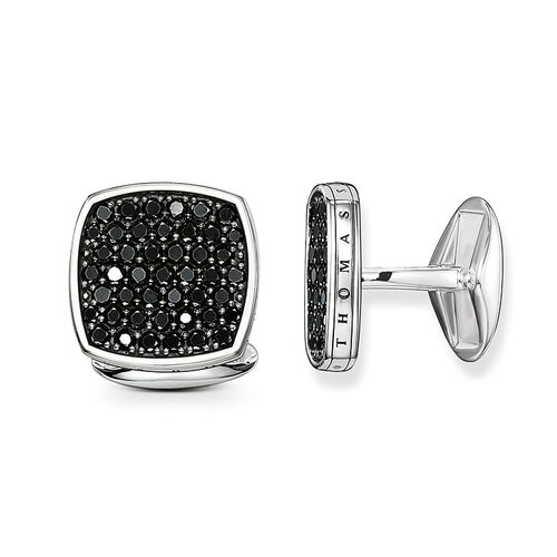 """cufflinks """"diamond pavé"""" from the Rebel at heart collection in the THOMAS SABO online store"""
