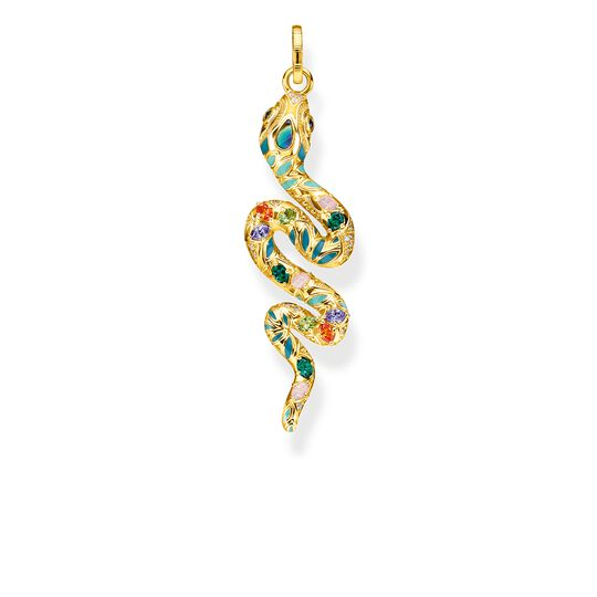 pendant bright golden-coloured snake from the Glam & Soul collection in the THOMAS SABO online store