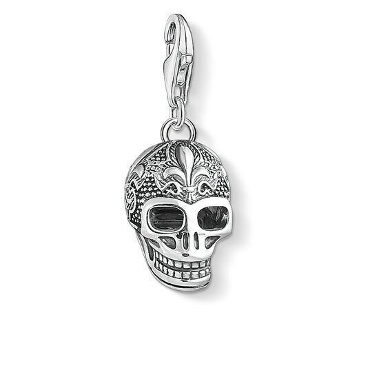 Charm pendant skull with lily 1546 charm club thomas sabo charm pendant quotskull with lilyquot from the collection in the thomas sabo mozeypictures Image collections