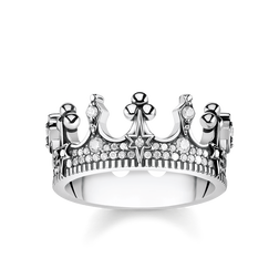 "ring ""crown silver"" from the Glam & Soul collection in the THOMAS SABO online store"