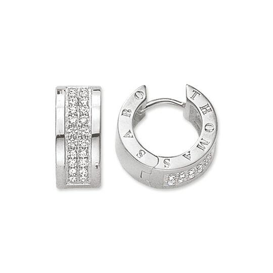 créoles Classic blanc de la collection Glam & Soul dans la boutique en ligne de THOMAS SABO