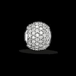 """Bead """"Weißer Diamant Pavé"""" aus der Karma Beads Kollektion im Online Shop von THOMAS SABO"""