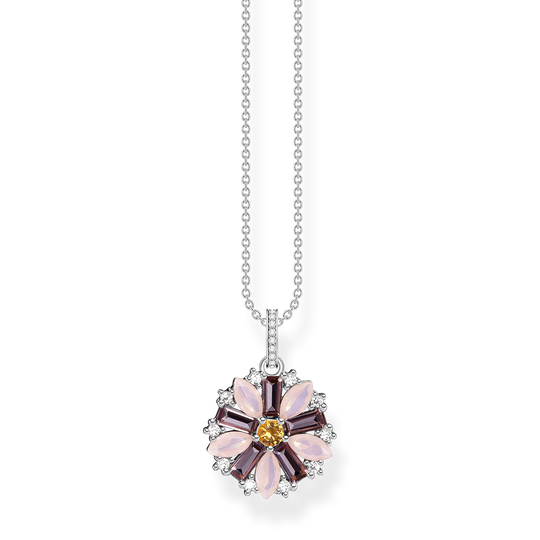 Necklace flower silver from the Glam & Soul collection in the THOMAS SABO online store