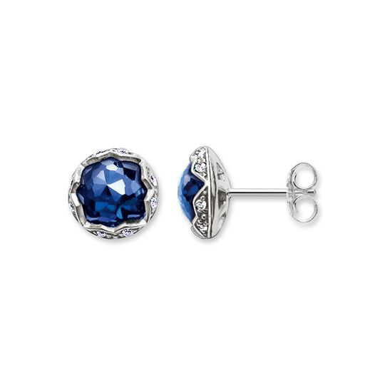 "ear studs ""dark-blue lotus"" from the Glam & Soul collection in the THOMAS SABO online store"