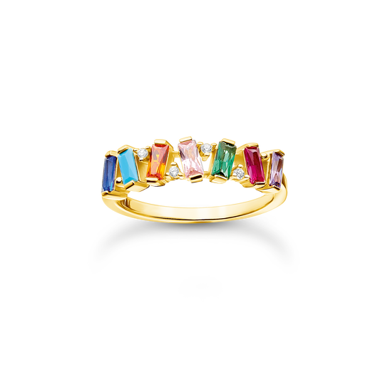 Ring colourful stones, gold from the Charming Collection collection in the THOMAS SABO online store