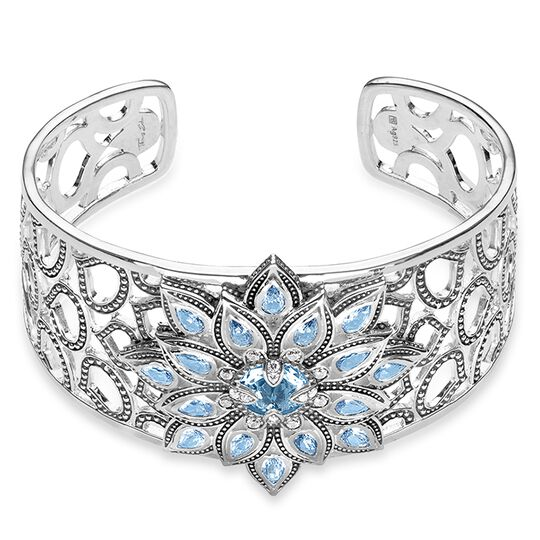 bangle blue lotus from the Glam & Soul collection in the THOMAS SABO online store