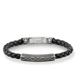 "leather strap ""Love Knot"" from the Rebel at heart collection in the THOMAS SABO online store"