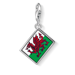 Charm pendant flag Wales from the Charm Club Collection collection in the THOMAS SABO online store