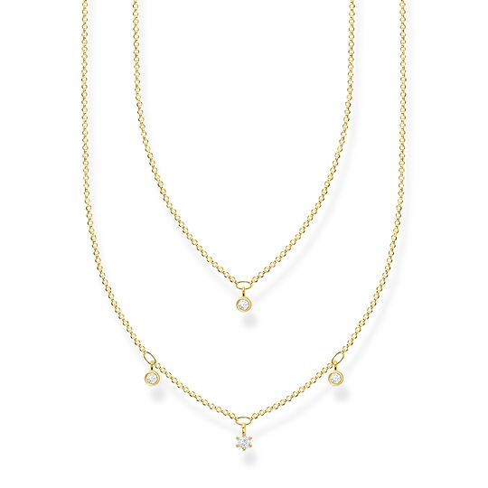 Necklace double white stones gold from the Charming Collection collection in the THOMAS SABO online store