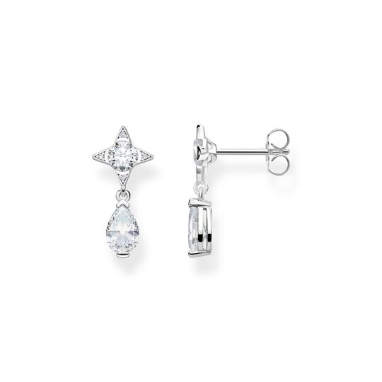 earrings white droplet from the  collection in the THOMAS SABO online store