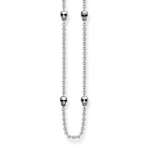 "necklace ""skulls"" from the Rebel at heart collection in the THOMAS SABO online store"