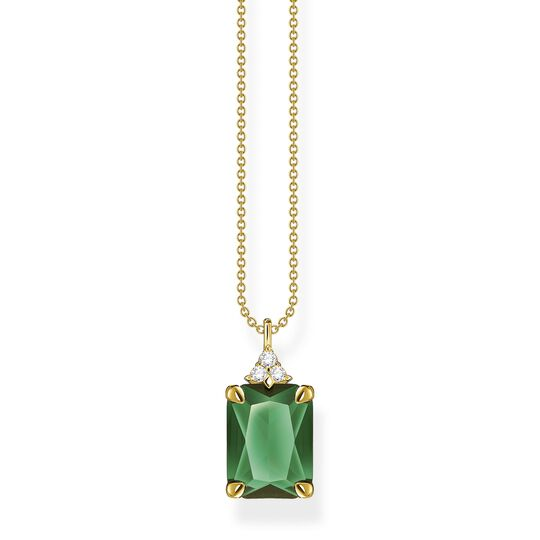 Necklace green stone gold from the  collection in the THOMAS SABO online store