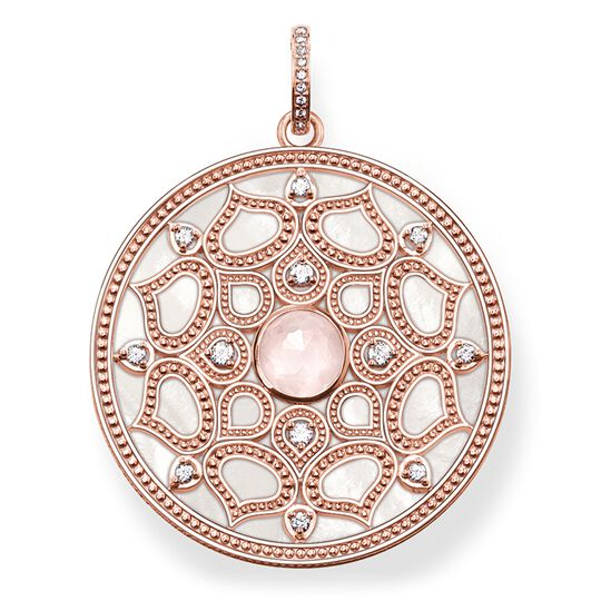 "pendant ""pink lotus"" from the Glam & Soul collection in the THOMAS SABO online store"